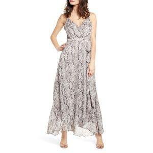 NWT ASTR Snake Print Sleeveless Maxi Dress- Small